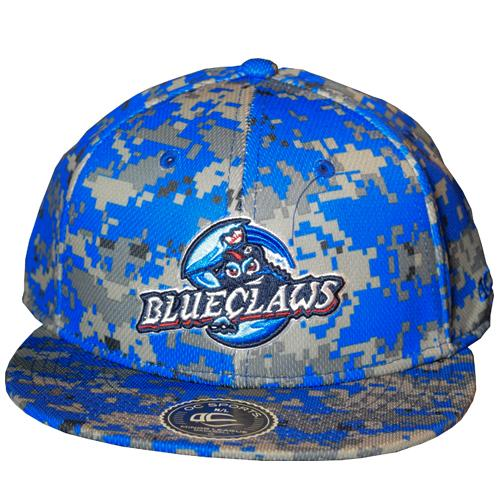 Lakewood BlueClaws - Camo Stretch Fit Cap